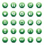 Vector icons for travel and leisure Stock Photography