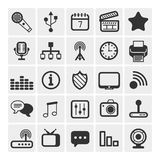 25 vector icons Royalty Free Stock Photos