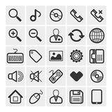 25 vector icons Stock Photo