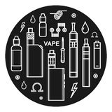 Vector icons of vape stock images