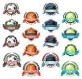 Vector icons of very popular sports Royalty Free Stock Images