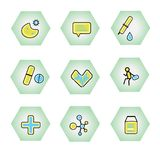 Vector Icons for Web and Mobile Applications. Set 20. Icons for Web and Mobile Applications. Set 9 Stock Photo