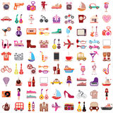 Vector icons on white background Royalty Free Stock Photos