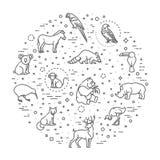 Vector icons. Zoo. Animals Stock Image