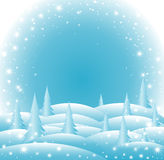 Vector icy Happy New Year and Merry Christmas background with snowflakes Royalty Free Stock Images