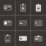 Vector id card icon set Stock Images