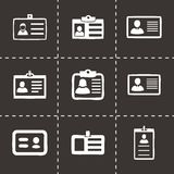 Vector id card icons set Royalty Free Stock Image