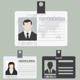 Vector id card set Royalty Free Stock Photography