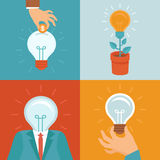Vector idea concepts in flat style Royalty Free Stock Image