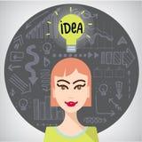 Vector idea illustration Stock Photos