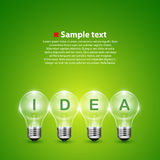 Vector idea light bulb on the background Stock Image