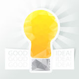 Vector idea web icon design element. Stock Images