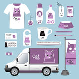 Vector identity Corporate design animal, logo cat Animal Hospita Royalty Free Stock Photos