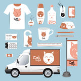 Vector identity Corporate design animal, logo cat Animal Hospita Stock Images