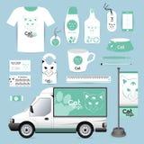 Vector identity Corporate design animal, logo cat Animal Hospita Royalty Free Stock Image