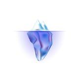 Vector ijsberg. Royalty-vrije Stock Afbeelding