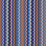Vector ikat wave feather oriental retro colours seamless pattern. For wrapping, fabric, textile, craft stock illustration