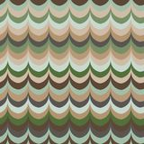 Vector ikat wave green feather retro colours seamless pattern. For wrapping, fabric, textile, craft vector illustration