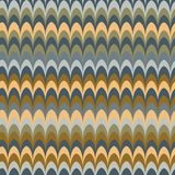 Vector ikat wave red feather retro colours seamless pattern. For wrapping, fabric, textile, craft vector illustration