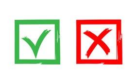 Vector Ikonenzeichen, ja zu wählen und nein Stockfotografie