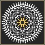 Vector il bianco ed il modello dell'oro delle spirali, turbinii Fotografie Stock Libere da Diritti