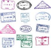 Vector il bollo del passaporto Fotografia Stock Libera da Diritti