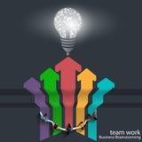 Vector il 'brainstorming' di affari del lavoro di gruppo e permetta la progettazione Immagine Stock Libera da Diritti