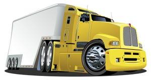 Vector il camion del carico del fumetto Immagini Stock