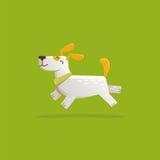 Vector il cane divertente ed amichevole dell'illustrazione del fumetto - illustrazione vettoriale