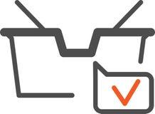 Vector il cestino della spesa dell'icona, attuale per il deposito online, royalty illustrazione gratis