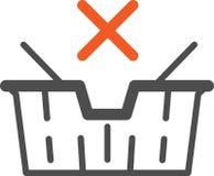 Vector il cestino della spesa dell'icona, attuale per il deposito online, illustrazione di stock