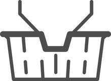 Vector il cestino della spesa dell'icona, attuale per il deposito online, illustrazione vettoriale