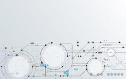 Vector il circuito futuristico astratto, alte tecnologie informatiche dell'illustrazione illustrazione di stock