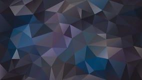 Vector il colore blu scuro, porpora, viola, grigio e marrone poligonale irregolare del fondo - modello basso del triangolo poli - Immagini Stock Libere da Diritti