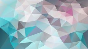Vector il colore blu, verde, del turchese, di gray, di beige e di taupe poligonale irregolare del fondo - modello basso del trian Fotografia Stock Libera da Diritti