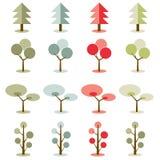 Vector il colore di tono semplice della terra con gli alberi delle collezioni royalty illustrazione gratis