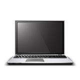 Vector il computer portatile Fotografie Stock Libere da Diritti