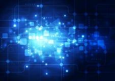 Vector il concetto di tecnologia digitale di Ciao-tecnologia dell'illustrazione, fondo astratto Fotografia Stock Libera da Diritti