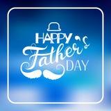 Vector il concetto felice della cartolina d'auguri del giorno del ` s del padre, stile puerile Immagini Stock Libere da Diritti