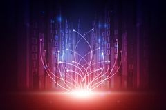 Vector il concetto futuristico astratto del fondo della tecnologia, illustrazione su digitale illustrazione di stock