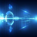 Vector il concetto futuro astratto della tecnologia, illustrazione del fondo Immagini Stock Libere da Diritti