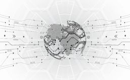 Vector il concetto globale digitale della tecnologia, fondo astratto royalty illustrazione gratis