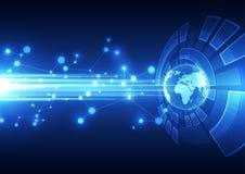 Vector il concetto globale digitale della tecnologia, fondo astratto Fotografia Stock Libera da Diritti