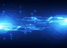 Vector il concetto globale digitale della tecnologia, fondo astratto