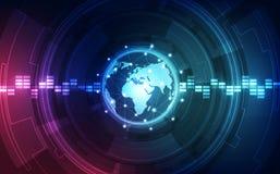 Vector il concetto globale digitale della tecnologia, fondo astratto Immagini Stock Libere da Diritti