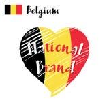 Vector il cuore del Belgio, marca nazionale della bandiera Illustrazione Vettoriale