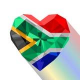 Vector il cuore sudafricano, bandiera della Repubblica Sudafricana Immagini Stock