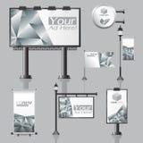Vector il disegno pubblicitario all'aperto per la società con i cerchi di colore Immagine Stock Libera da Diritti