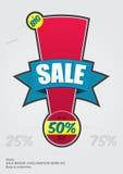 Distintivo di vendita | Punto esclamativo #01 Fotografie Stock Libere da Diritti