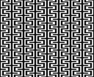 Vector il ethno astratto del modello della geometria dei pantaloni a vita bassa, il fondo senza cuciture in bianco e nero della g Immagini Stock Libere da Diritti